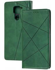 Книга Business Leather Xiaomi Redmi Note 9 (зелений)