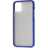 Чехол LikGus Maxshield матовый iPhone 11 Pro (темно-синий)