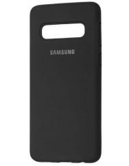 Чехол Silky Samsung Galaxy S10+ (черный)