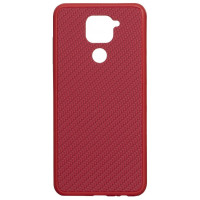 Чехол Premium Carbon Xiaomi Redmi Note 9 (красный)