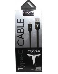 Кабель Tesla Lightning 2.4A (чорний)