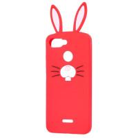 Силиконовый чехол Заяц Xiaomi Redmi 6 (красный)