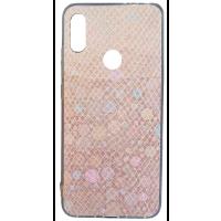 Чехол силиконовый Змея Xiaomi Redmi Note 7 (розовый)