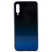 Чехол Glass Case Gradient Samsung Galaxy A70 (Blue Abyss)