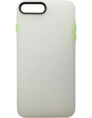 Чохол силіконовий матовий iPhone 7/8 Plus (біло-салатовий)