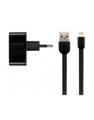 Remax 2.4 A Dual USB Charger + Data Cable[RP-U215I-BLACK]