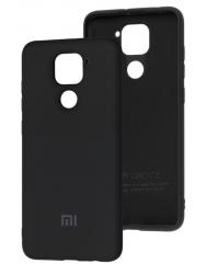 Чехол Silicone Case Xiaomi Redmi Note 9 (черный)