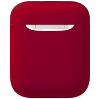 Чехол для Airpods силиконовый (бордовый)