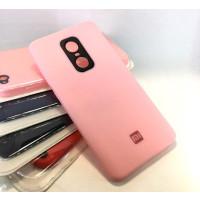 Силиконовый чехол Silicone Case Xiaomi Redmi Note 4x (розовый)