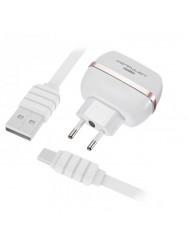 Сетевое зарядное устройство Konfulon C23 2.4 A 2USB (белый) + кабель Type-C