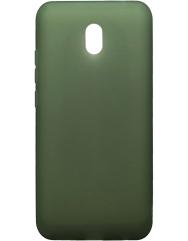 Чохол силіконовий матовий Xiaomi Redmi 8a (хакі)