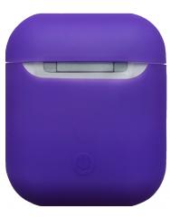 Чехол для Airpods силиконовый (фиолетовый)