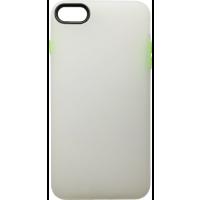 Чехол силиконовый матовый iPhone 7/8 (бело-салатовый)