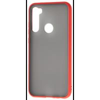Чехол LikGus Maxshield матовый Xiaomi Redmi Note 8 (красный)