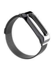 Ремешок для Xiaomi Band 3/4 Metal Magnit (Grey)