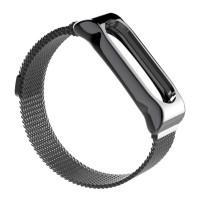 Ремешок для Xiaomi Mi Band 3/4 Metal Magnit (серый)