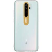Чехол TPU Clear Flash Xiaomi Redmi Note 8 Pro (прозрачный + золотой)
