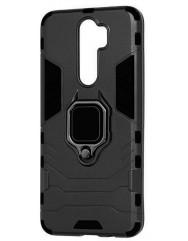 Чехол Armor + подставка Xiaomi Redmi Note 8 Pro (черный)