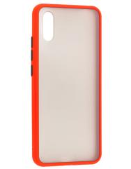Чехол LikGus Maxshield матовый Xiaomi Redmi 9a (красный)