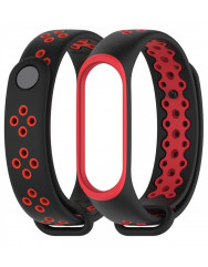 Ремешок для Xiaomi Band 3/4 Mijobs Sport (black-red)