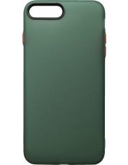 Чохол силіконовий матовий iPhone 7/8 Plus (зелено-червоний)