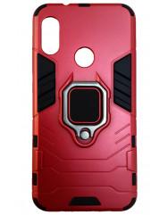 Чехол Armor + подставка Xiaomi Mi A2 Lite (красный)