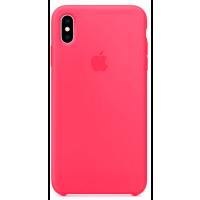 Чехол Silicone Case iPhone Xs Max (ярко-розовый)