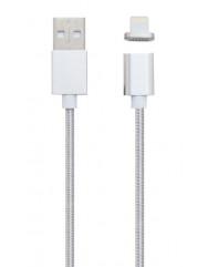 Магнитный кабель Clip-On for Iphone (серебристый)  USB 2.0