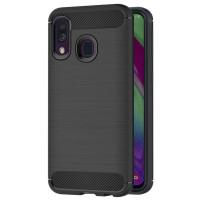 Чехол Carbon Samsung Galaxy A40 (черный)