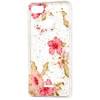 Силиконовый чехол Xiaomi Redmi 6 (розовые цветы)