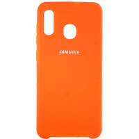 Чехол Silky Samsung Galaxy A20/A30 (оранжевый)
