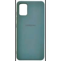 Чехол Silicone Case Samsung Galaxy A51 (темно-зеленый)