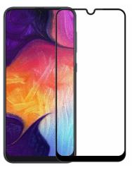 Стекло матовое Samsung A40 (9D Black) 0.39mm