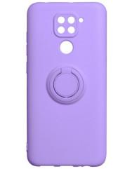 Чехол Ring Color Xiaomi Redmi Note 9 (фиолетовый)