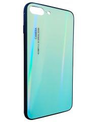 Чохол Glass Case Gradient iPhone 7/8 Plus (салатовий)