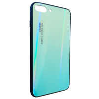 Чехол Glass Case Gradient iPhone 7/8 Plus (салатовый)