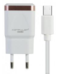 Сетевое зарядное устройство Konfulon C31 + S02 (Micro Cable)