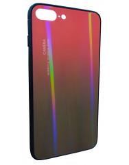 Чохол Glass Case Gradient iPhone 7/8 Plus (червоний-чорний)