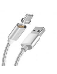 Магнітний кабель Magnetic Cable Type-C (срібний)