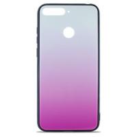 Чехол Glass Case Gradient Huawei Y6 2018 (Light Pink)