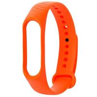 Ремешок для Xiaomi Band 3/4 Рельеф (оранжевый)