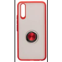 Чехол LikGus Maxshield матовый Samsung A50/A50s/A30s с держателем на палец (красный)