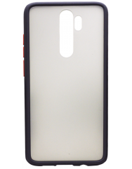 Чехол LikGus Maxshield матовый Xiaomi Redmi Note 8 Pro (черный)