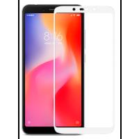 Стекло матовое Xiaomi Redmi 6/6a (9D White) 0.39mm