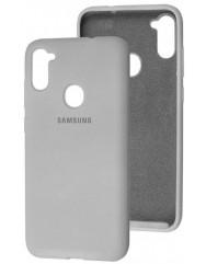 Чехол Silicone Case Samsung Galaxy A11 / M11 (серый)