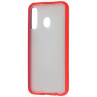 Чехол LikGus Maxshield матовый Samsung Galaxy A20/A30 (красный)