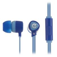 Вакуумные наушники-гарнитура ERGO VM-201 (голубой)