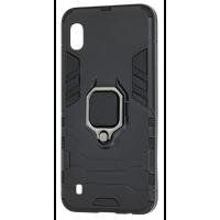 Чехол Armor + подставка Samsung Galaxy A10 (черный)
