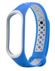 Ремінець для Xiaomi Band 3/4 Mijobs Sport (blue-white)
