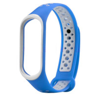 Ремешок для Xiaomi Band 3/4 Mijobs Sport (blue-white)